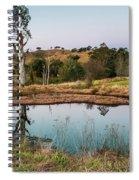 Dam At Sunset Landscape Spiral Notebook
