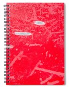 Damaged Red Metal Spiral Notebook