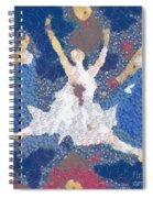 Dance Abstract In The Mix Spiral Notebook