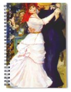 Dance At Bougival 1883 Spiral Notebook