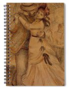 Dance In The Country 1883 Spiral Notebook