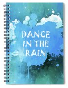 Dance In The Rain Cool Blue Spiral Notebook