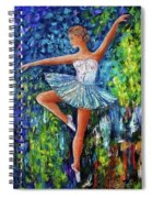 Dance In The Rain Of Color  Spiral Notebook