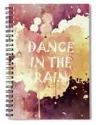 Dance In The Rain Red Version Spiral Notebook