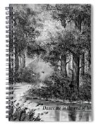 Dance Me To The End Of Love Bw Spiral Notebook