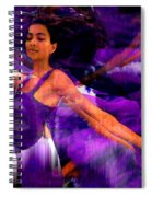 Dance Of The Purple Veil Spiral Notebook