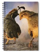 Dance Of The Quail Spiral Notebook
