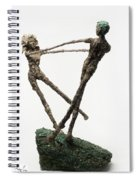 Dance On A Hill Top Back View Spiral Notebook