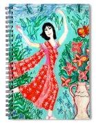 Dancer In Red Sari Spiral Notebook