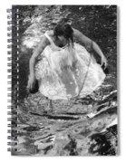 Dancer In White Dress In Shallow Water Spiral Notebook