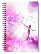 Dancer On Water 4 Spiral Notebook