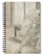 Dancer Seated, Readjusting Her Stocking Spiral Notebook