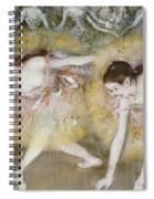 Dancers Bending Down Spiral Notebook
