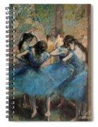 Dancers In Blue Spiral Notebook