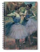 Dancers In Violet  Spiral Notebook