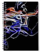 Dancing Abstract Spiral Notebook