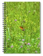 Dancing Among The Flowers Spiral Notebook
