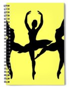 Dancing Ballerinas Silhouette Spiral Notebook