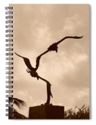 Dancing Birds Spiral Notebook