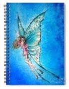 Dancing Fairy In Blue Sky Spiral Notebook