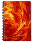 Dancing Flames Abstract  Spiral Notebook