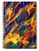 Dancing Flames Spiral Notebook