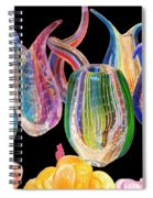 Dancing Glass Objects Spiral Notebook