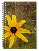 Dancing In The Rain Print Spiral Notebook