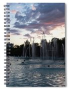 Dancing Jets And Music Sunset - Plovdiv Singing Fountains Spiral Notebook