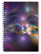 Dancing Light Spiral Notebook
