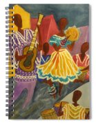 Dancing N Jammin In The Street  Abstract  Spiral Notebook