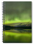 Dancing Northern Lights Spiral Notebook