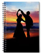 Dancing On The Beach - Painting Spiral Notebook