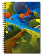 Dancing Shadows Spiral Notebook