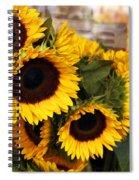Dancing Sunflowers Spiral Notebook