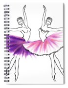 Dancing Tutus In Purple And Pink Spiral Notebook