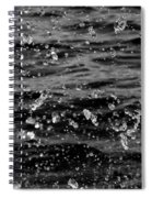 Dancing Water In Black And White Spiral Notebook