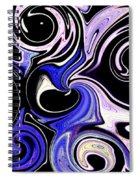 Dancing With The Swans Abstract Spiral Notebook
