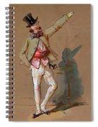 Dandy In Paris Spiral Notebook
