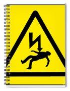 Danger Electricity Spiral Notebook