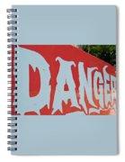 Danger - Global Warming Spiral Notebook