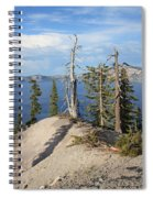 Dangerous Slope At Crater Lake Spiral Notebook