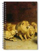 Daniel In The Lions Den Spiral Notebook