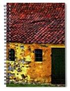 Danish Barn Watercolor Version Spiral Notebook