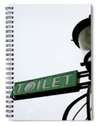 Danish Toilet Sign Spiral Notebook