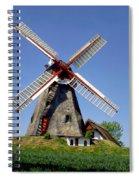 Danish Windmill Spiral Notebook