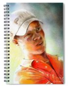 Danny Willett In The Madrid Masters Spiral Notebook