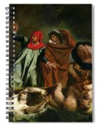 Dante And Virgil In The Underworld Spiral Notebook