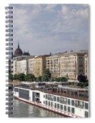 Danube Riverside With Old Buildings Budapest Hungary Spiral Notebook