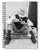 Dapper Man With Toothbrush Spiral Notebook